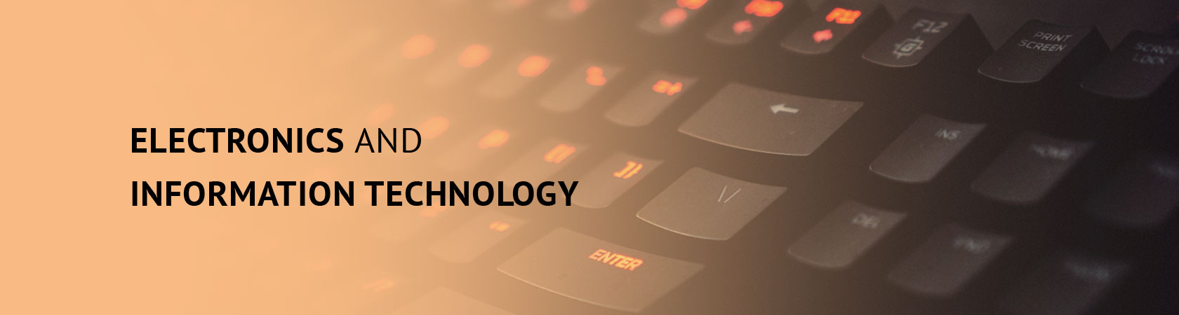 ELECTRONICS AND INFORMATION TECHNOLOGY